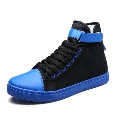 New 2016 Men / Women High-Top Espadrilles Casual Shoes Breathable Canvas Shoes Fashion Women's Shoes (Blue) (Intl)
