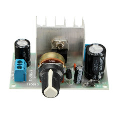 New 6-24V LM317 AC / DC To DC Adjustable Voltage Regulator Step-down Power Module (Multicolor) - Intl
