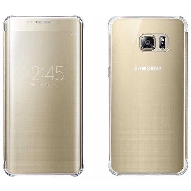 New Clear UV Mirror View Case for Samsung Galaxy S6 Edge Plus (Gold) (Intl)