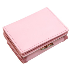New Clutch Checkbook Metal Cat Change Coin Bag Women Purse Ladies Handbag Wallet Pink