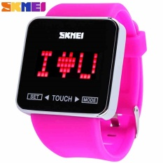 New Colorful Rubber Jelly Digital Watches Women Ladies Girl Men Touch Screen Wrist Led Watch, Ladies Fashions Waterproof Watches - Intl