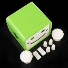 New Creative Green Rotatable Smile Cute Cartoon Paper Box Covercase Holder Home Decoration 2 Colorsgreen - Intl