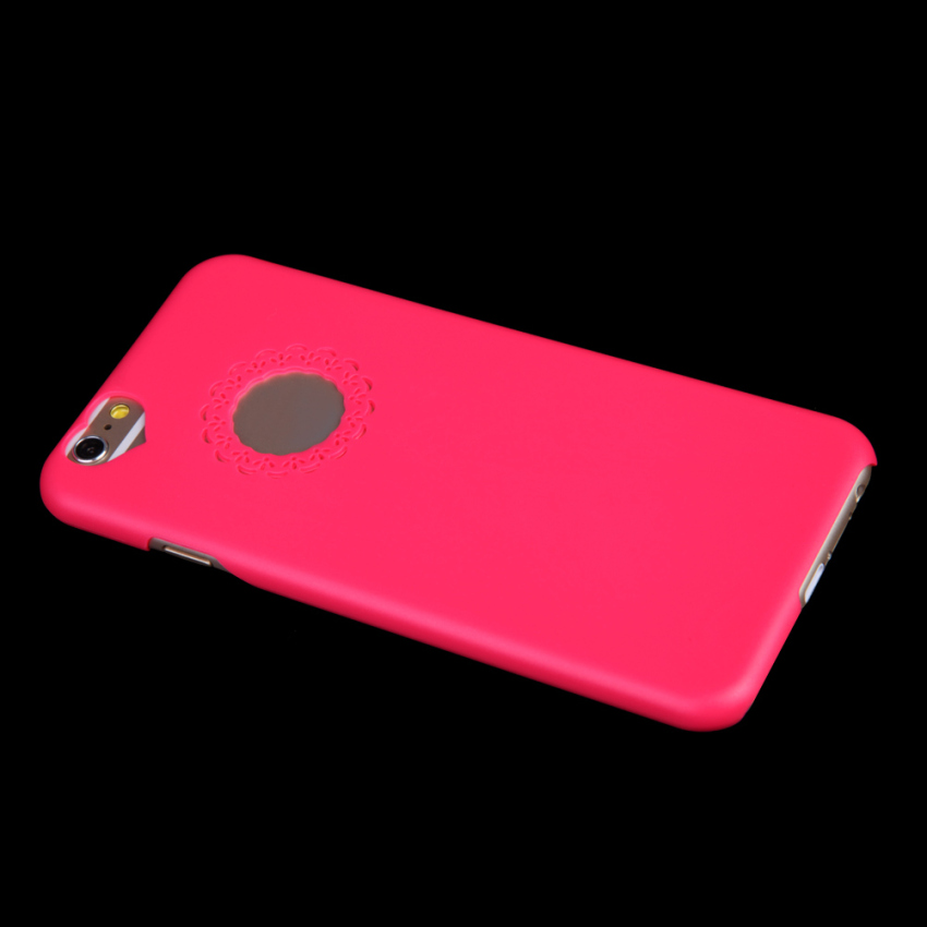 New Cute Sweet Peach Heart Ultra Thin Case Cover Skin for iphone 6 Rose Red (Intl)