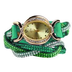 New Design 2016 New Arrive Reloj Mujer Rhinestone Relogio Watches Quartz Watch Women Dress Watch Ladies Dress Reloj Green (Intl)