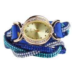 New Design 2016 New Arrive Reloj Mujer Rhinestone Relogio Watches Quartz Watch Women Dress Watch Ladies Dress Reloj Royal Blue (Intl)
