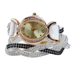 New Design 2016 New Arrive Reloj Mujer Rhinestone Relogio Watches Quartz Watch Women Dress Watch Ladies Dress Reloj White (Intl)