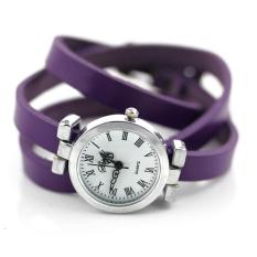 New Fashion Hot-selling Women's Long Leather Female Watch ROMA Vintage Watch Women Dress Watches (Purple)