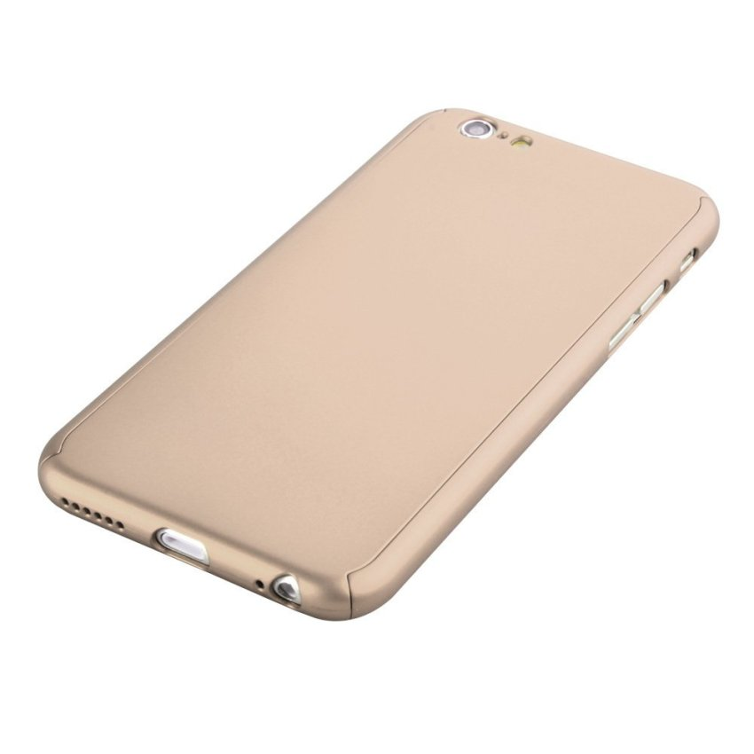 New Front + Back Hard Case Cover Full Body with Tempered Glass for iPhone 6/6S Gold (Intl)