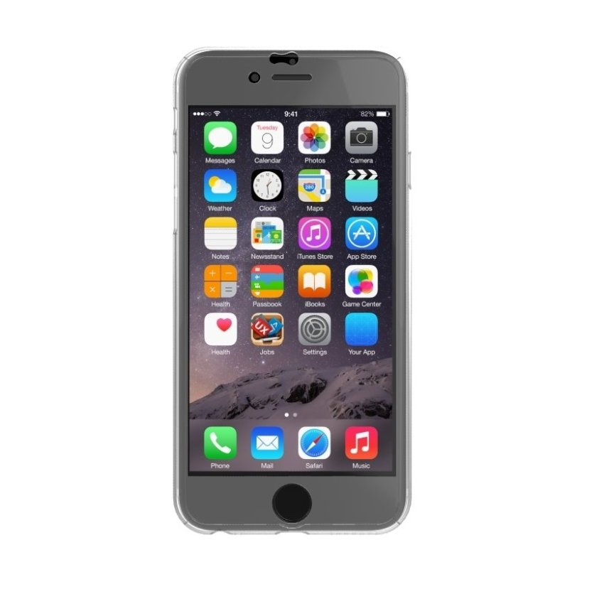 New Front + Back Hard Case Cover Full Body with Tempered Glass for iPhone 6S Plus Clear (Intl)