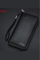 New Style Mens Wallet Business Zipper Purse Large Capacity Men Handbag Black 4