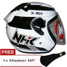 NHK R6 X 807 (Putih Hitam Merah) + Gratis Masker NP