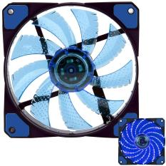 NiceEshop 3-Pin / 4-Pin 120x120x25mm LED Quiet Edition High Airflow Low Noise High PressureFan Single Pack 15-RLED Mini Cooling Cooler Fan (Blue)