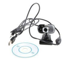 NiceEshop Flexible USB 2.0 5.0 Mega Pixel 3 LED PC Laptop Camera HD Digital Webcam Camera Web Cam With Microphone