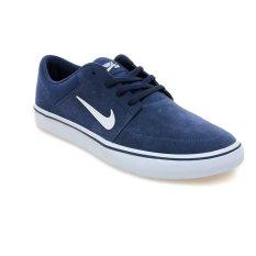 Nike SB Portmore Sepatu Lari Pria - Mid Navy-Putih-Gum Light Brown
