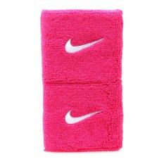 Nike Swoosh Wristbands - Pink-Putih