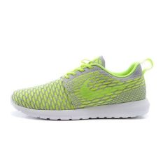 Nike Womens Rosherun Flyknit Running Trainers Sneakers Shoes (Fluorescent Green) - Intl