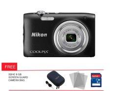 Nikon Coolpix A 100 - 20 MP - Hitam + Gratis Screen Guard + Memory + Tas Kamera