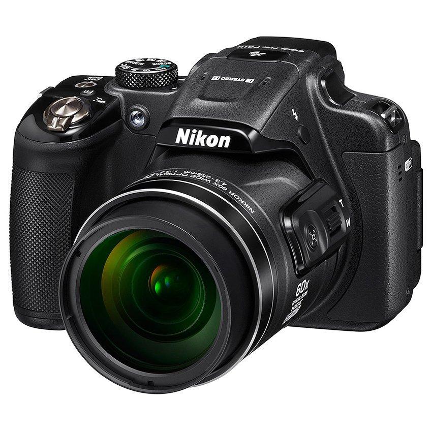 Nikon Coolpix P610 - 16 MP - 60x Optical Zoom - Hitam