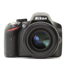 Nikon D3200 Lensa Kit VR II 18-55mm - 24.2 MP - Hitam