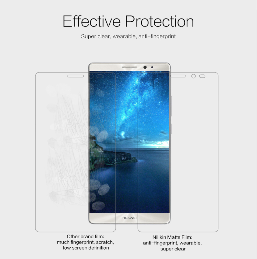 Nillkin Amazing Matte Scratch-resistant Protective Film for Huawei Mate 8 (Intl)