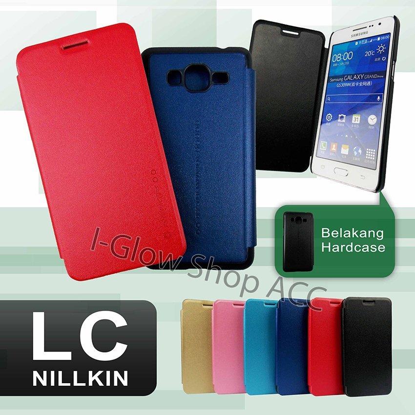 Nillkin Flip Cover LC  for Samsung Galaxy J2 - Biru Dongker