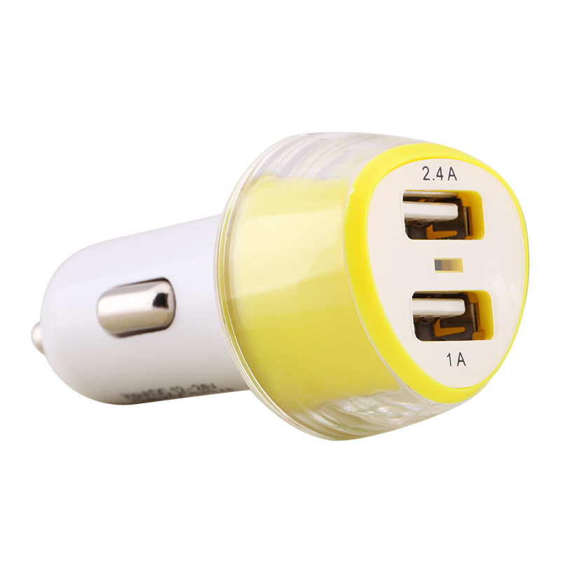 Nillkin Mini Dual USB 1A / 2.4A Mobile Phone Car Charger for Apple iPhone 7/7S 6/6s Plus SE/5S/5C iPad , Samsung Galaxy S6 S7 S8 Edge Note 6/5/4 , Huawei Mate S 8/7 P8 P9 Sony LG Xiaomi HTC (Intl)