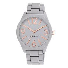 Nine West Women's NW / 1678GYRG Watchme Analog Display Japanese Quartz Grey Bracelet Watch (Intl)