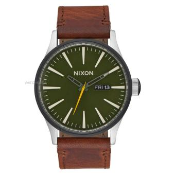 NIXON Sentry Leather Surplus / Brown Jam Tangan Unisex A1052334 - Leather - Brown