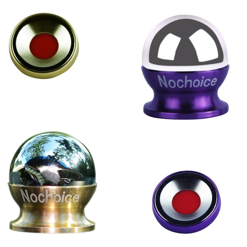 Nochoice 2 in 1 Two Colours Rotatable Stand Car Dashboard GPS Holder Phone Holder Magnetic Sticker Cell Phone Mount Mount Phone Tablet Stand Gold+Purple (Intl)