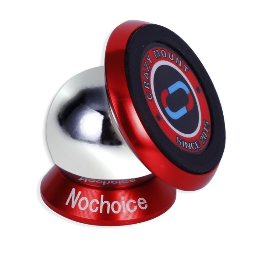 NoChoice 360 Degree Rotation Magnetic Car Kit Phone Holder For Universal Cell Phone Red (Intl)