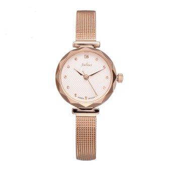 Nonof Julius Julius Korea Fashion Quartz Watch Waterproof Watch Korean Steel Ladies Watch Fashion Watch Rose Gold