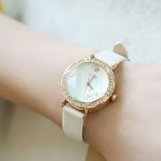 Nonof Julius (Julius) Korean Fashion Ladies Watch Belt, Female Students Watch JA-778 White Gold Quartz Watch Waterproof -823C