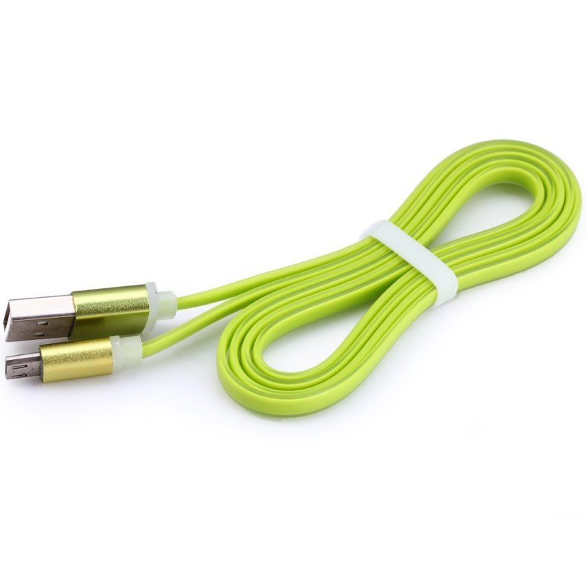 Noodle Shape Data Sync Charging Cable (Green) (Intl)