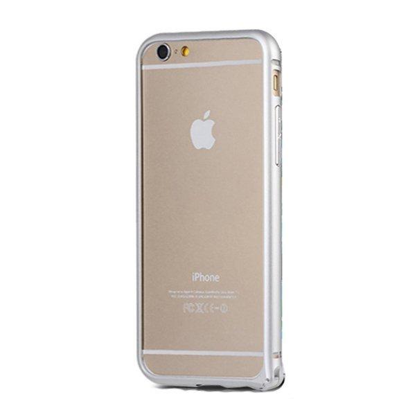 NOOSY Metal Aluminium Bumper Case for iPhone 6 Plus - MF03-6Plus - Silver