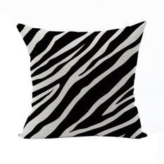 Nunubee Classic Home Pillow Covers Cotton Linen Bed Pillowcase Decorative Cushion Cover Black 3 - Intl