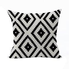 Nunubee Classic Home Pillow Covers Cotton Linen Bed Pillowcase Decorative Cushion Cover Black - Intl