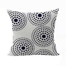 Nunubee Classic Home Pillow Covers Cotton Linen Bed Pillowcase Decorative Cushion Cover White - Intl