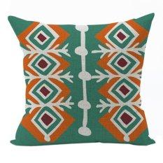 Nunubee Vintage Cotton Pillowcase Decorative Cushion Cover Square Home Pillowcase For Sofa Multicolor