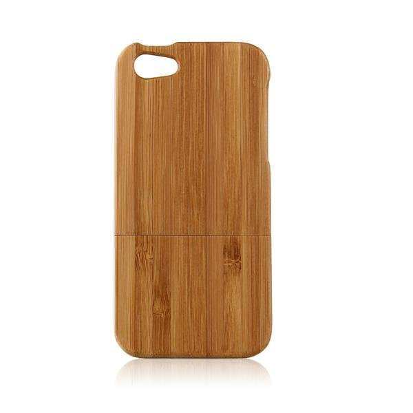 OEM Back Hard Case untuk iPhone 5 - Bamboo Wooden