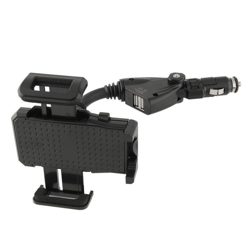 OEM Dual USB Car Lighter Holder Stand Charger Fit For Mobile Phone (Intl)