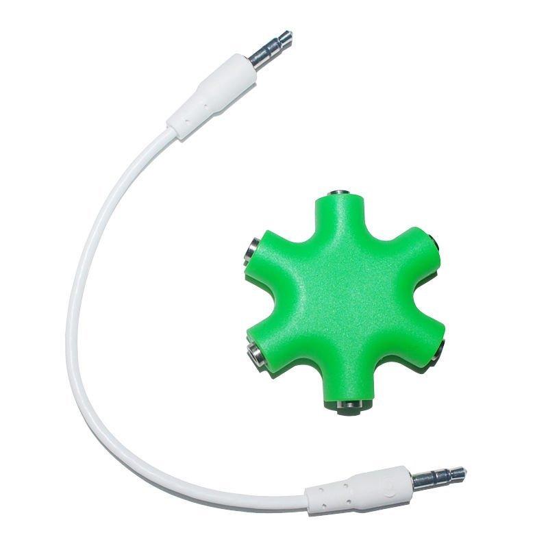 Okdeals 3.5mm Earphone Audio Splitter Port Cables Green
