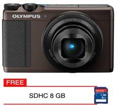 Olympus Stylus XZ 10 Brown Kamera Pocket + Gratis Memory Card 8 GB