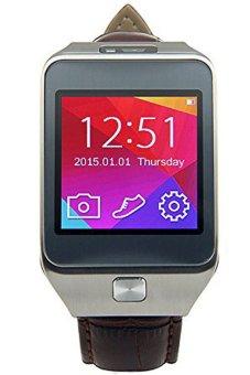i one jam tangan pria strap rubber smartwatch gt08 hitam sil