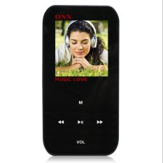 """ONN Q2 Ultra-Slim 1.5"""" TFT Screen Sporting MP4 Player W / FM / USB 2.0/3.5mm - Black (8GB)"""