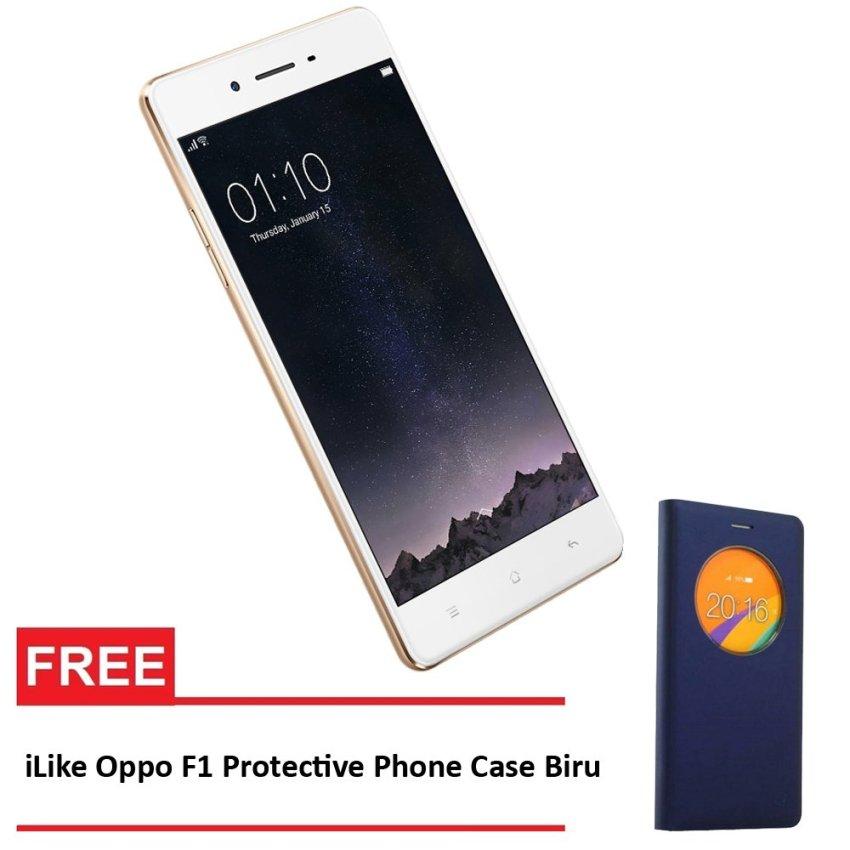 Oppo F1 - 16 GB - Rose Gold + Gratis iLike Oppo F1 Protective Phone Case - Biru