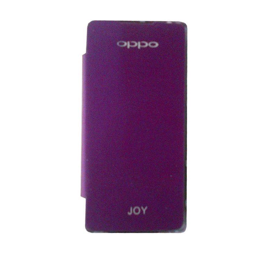 Oppo Joy R1001 Flip Cover - ungu