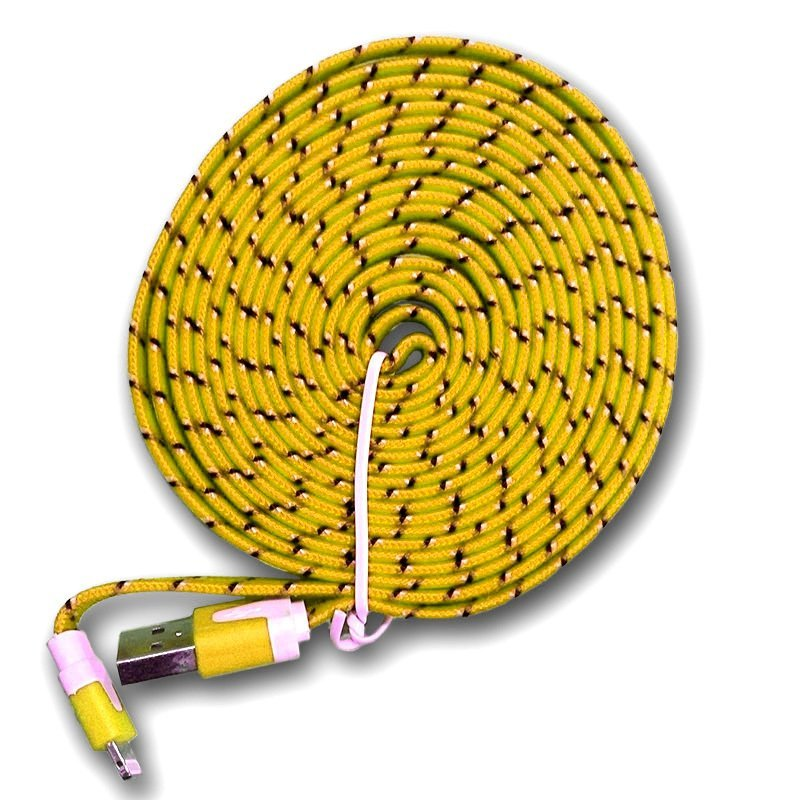 Optimuz Fabric Cable 3 Meter - Kuning