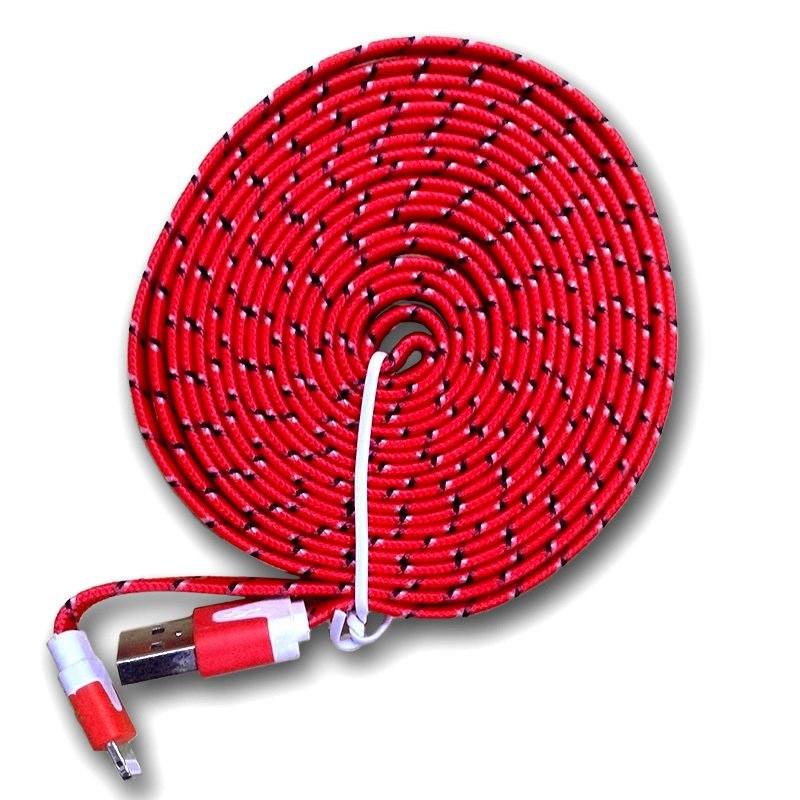 Optimuz Fabric Cable 3 Meter - Merah