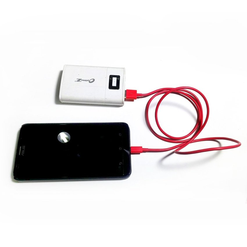 Optimuz Kabel Micro USB V8 - 2M Merah