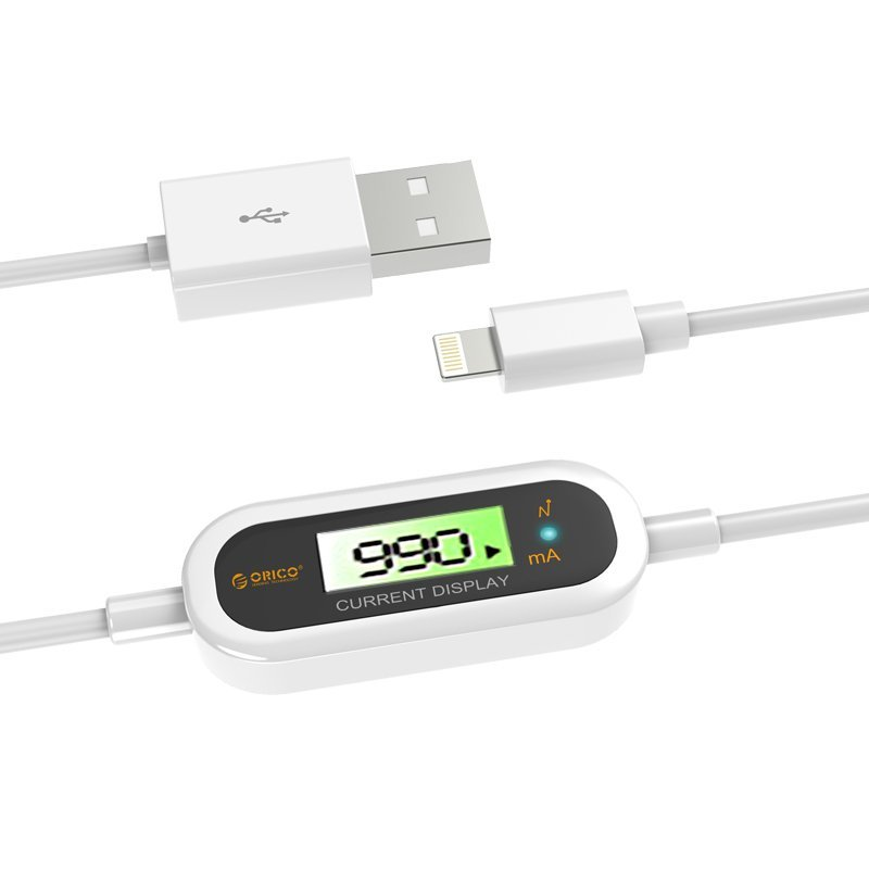 Orico LCD-10 High Voltage Protection Apple Lightning to USB Cable - Putih